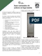 Banco Automatico de Capacitores en Baja Tension