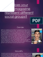 how does your music magazine represent different social