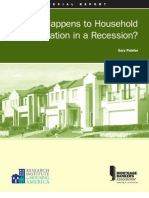 What Happens to Household Formation in a Recession
