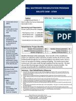 millsite-rehab project summary sheet