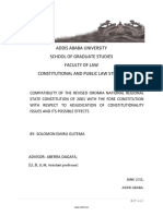 Compatibility of the Revised Oromia National Regional State Constitution of 2001 With the Fdre Constitution