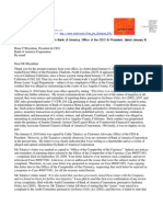 10-01-15 Bank of America - Response to President Moynihan Letter of Jan 8 2010 re
