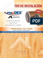 29 Prodex Rustic Manual de Instalacion