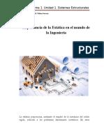 Importancia de la Estática en el mundo de la Ingeniería Civil