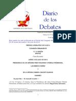 Diario de Debates Del Congreso -Exposicion Iberico - Norma16_2013