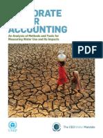 Corporate Water Accounting Analysis