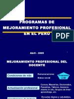 Programas de Mejoramiento Profesional en El Peru