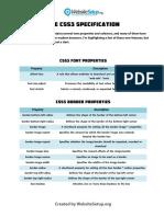 Css3 Cheat Sheet PDF