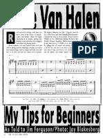 Van Halen Tips for Beginner