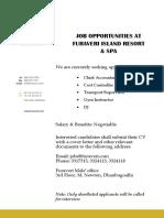Furaveri - Job Ad 24.01.2016
