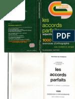 Langue Française Les Accords Parfaits 1000 Exercices et Corrigés