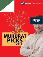 Kotak MUhurat Picks 2015