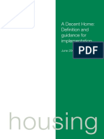 A Decent Home Definition and Guidance for Implementation