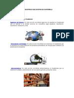 Tipos o Clases de Industrias Que Existen en Guatemala