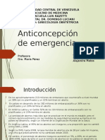Anticoncepción de Emergencia Seminario