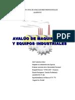 Avalúo de Maquinarias y Equipos Industriales