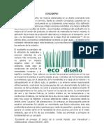 Eco Diseño y Diseño Industrial