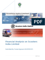 Financial Analysis on Scooters India Limited