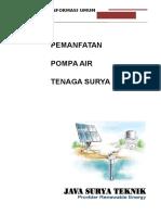 Proposal Pompa Air Tenaga Surya