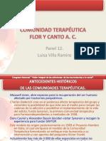 """Lic. Luisa Villa Ramiro """"Modelo de Tratamiento de La Comunidad Terapéutica Hogares Xóchitl Cuicatl,"""""""