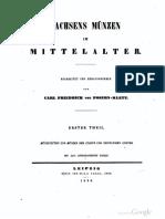 Münzstätten Und Münzen Der Städte Und Geistlichen Stifter Sachsens Im Mittelalter Bearb. Und Hrsg. Von Carl Friedrich Von Posern-Klett