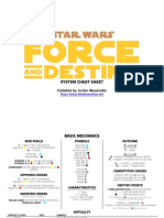 Star Wars Force and Destiny Cheat Sheet