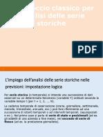 Approccio Classico Analisi Serie Storiche