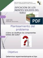 Clasificación de los componentes sólidos del suelo