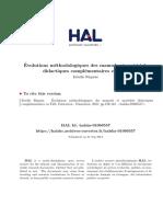 Evolutions methodologiques des manuels et materiels ´