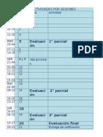 calendario de sesiones b2016-a