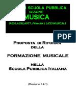 Proposta Di Riforma Della Formazione Musicale Nella Scuola Pubblica Italiana