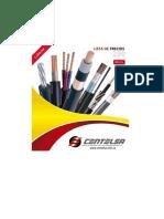 Catálogo de características de Cables Centelsa