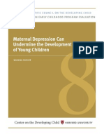 Maternal depression can undermine the development of young children