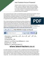 5 Actions How To Hack Facebook Account Password