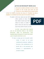 Practica de Microsoft Word 2013