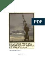 Elementos Para Una Construcción Teorica en arqueología