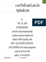 Questions on Profit and Loss for Aptitude Test
