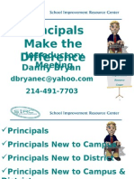 PRINCIPALS MAKE THE DIFFERENCE