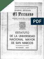 Estatuto UNMSM