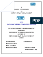 Summer Training Project on Ntpc