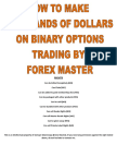 Binary Strategy From Forex Master