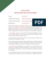 Modelo Acta de Constitución Caja Menor