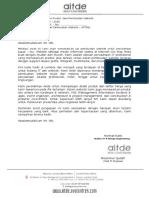 Surat Penawaran (Paket Pembuatan Website - AITDE)