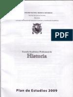 Plan de Estudios E.A.P. Historia