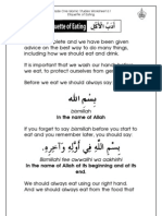 Grade 1 Islamic Studies - Worksheet 6.1 - Etiquette of Eating