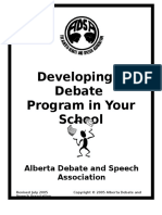 ADSA Developing a Debate Program