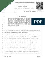 HJR1045 Intro Oklahoma Childhood Cancer Research Amendment