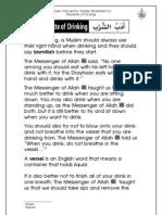 Grade 1 Islamic Studies - Worksheet 6.2 - Etiquette of Drinking