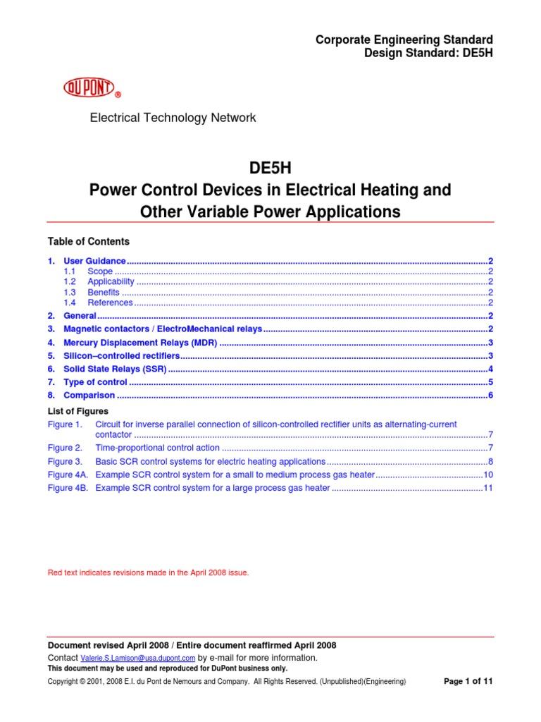 De5h Relay Switch Pics Photos Scr Power Control Circuit