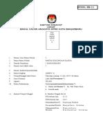 Formulir Daftar Riwayat Hidup 1